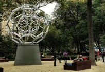 Buckyball Makes Its Presence Felt in Flatiron – Villareal's Light Sculpture a Sight to See at Madison Square Park