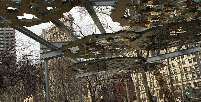 First Section of Fata Morgana Public Art Exhibit Rises in Mad Square Park