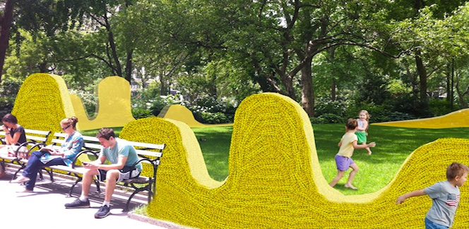 "Artist Orly Genger's ""Red, Yellow and Blue"" to Grace Madison Square Park"