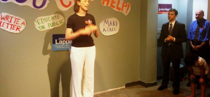 At the opening of Lappin's New Campaign HQ