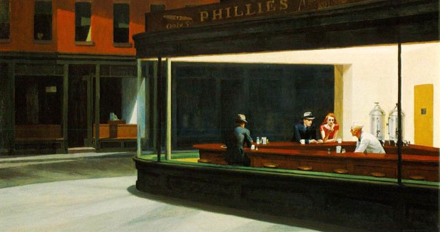 Edward Hopper's Nighthawks Hops Into the Flatiron Building Prow