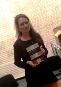 Frieze with her book: Totally Unofficial: The Autobiography of Rapahel Lemkin