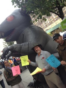 Union Members with Scabby at Best Buy Chelsea