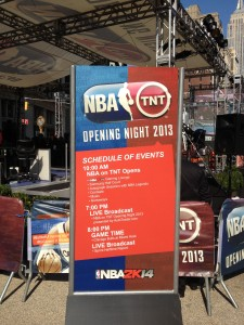 NBA Opening Night is here - right in the park