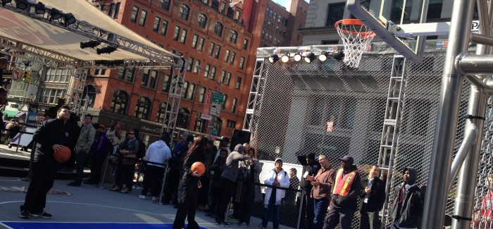 Basketball Takes Over Madison Square Park and Flatiron – NBA Opening Night!