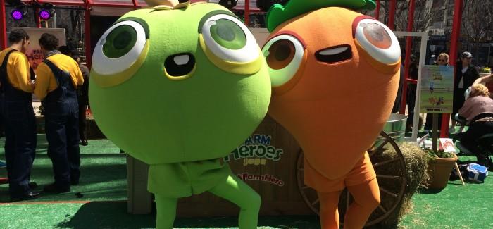 Farm Heroes Brings Walking, Talking Veggies to Flatiron Public Plaza