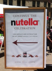 This way for Nutella ...