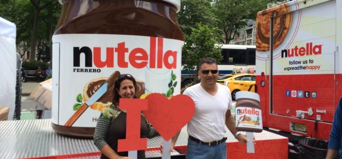"Nutella ""I Love NY – Spread the Happy"" Tour Hits Flatiron Public Plazas"