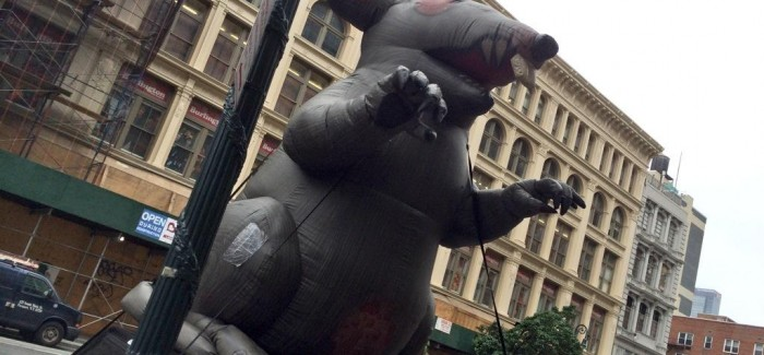 Olive Garden To Go Lifts Darden Profits: Scabby The Rat Protests Workers' Mistreatment At Darden's