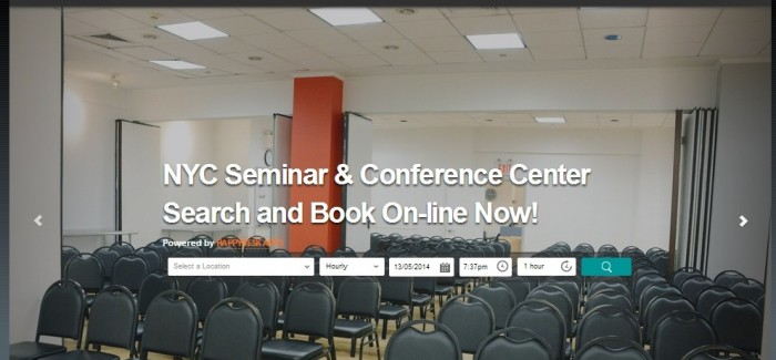 NYC Seminar Center Offers Flatiron District On-Line Booking & Payment with Happy Desk