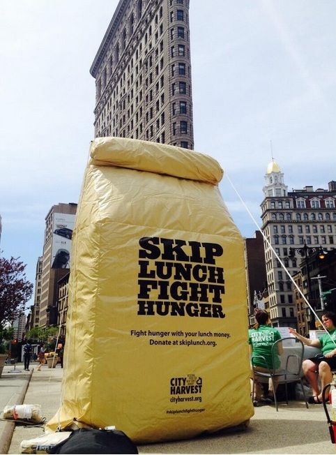 A Giant Lunch Bag in Flatiron Plaza?!