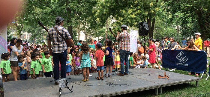 Okee Dokee Brothers Get Kids Involved in Sing-Along in Mad Sq. Park
