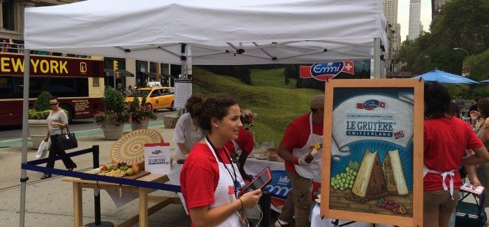 Le Gruyere Switzerland Promotion Featured Free Cheese in Flatiron Public Plaza North