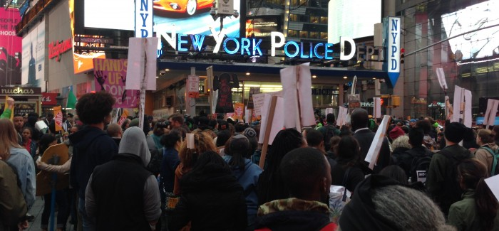 #O22: New Yorkers March on Times Square NYPD Station to Protest Police Brutality, Institutional Racism