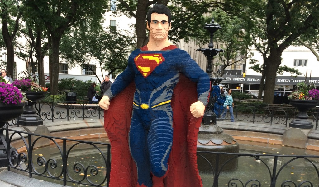 Lego Superman in Mad Square Park!