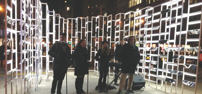 "Flatiron Plaza Holiday Festivities Kick Off With INABA's ""New York Light"" Installation"