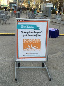 Make Your Contribution for the Food Bank in the Public Plaza!