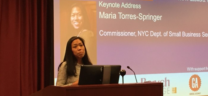 New York City Small Business Commissioner Maria Torres-Springer at Flatiron small business forum