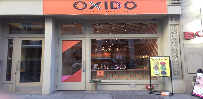 Oxido, a fast casual Mexican restaurant in the Flatiron District