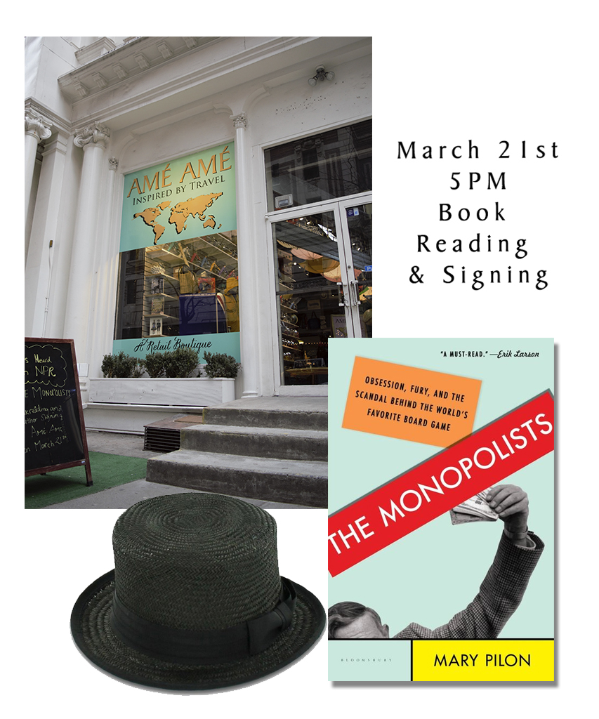 "Mary Pilon ""The Monopolists"" Book Reading at Ame Ame in Flatiron District"