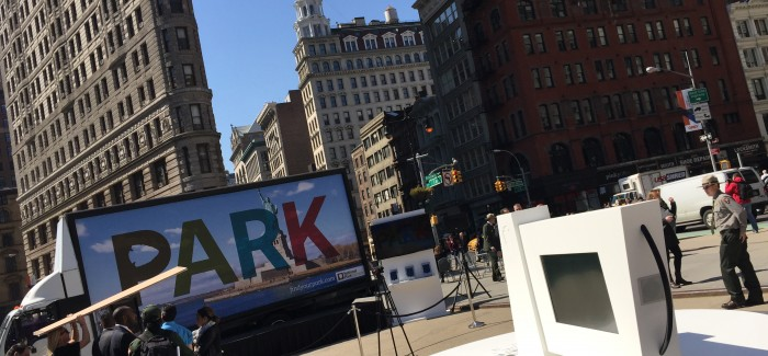 "National Park Service Hits Flatiron Plazas to Pitch ""Find Your Parks"" with Giant Interactive Sign and Compass"