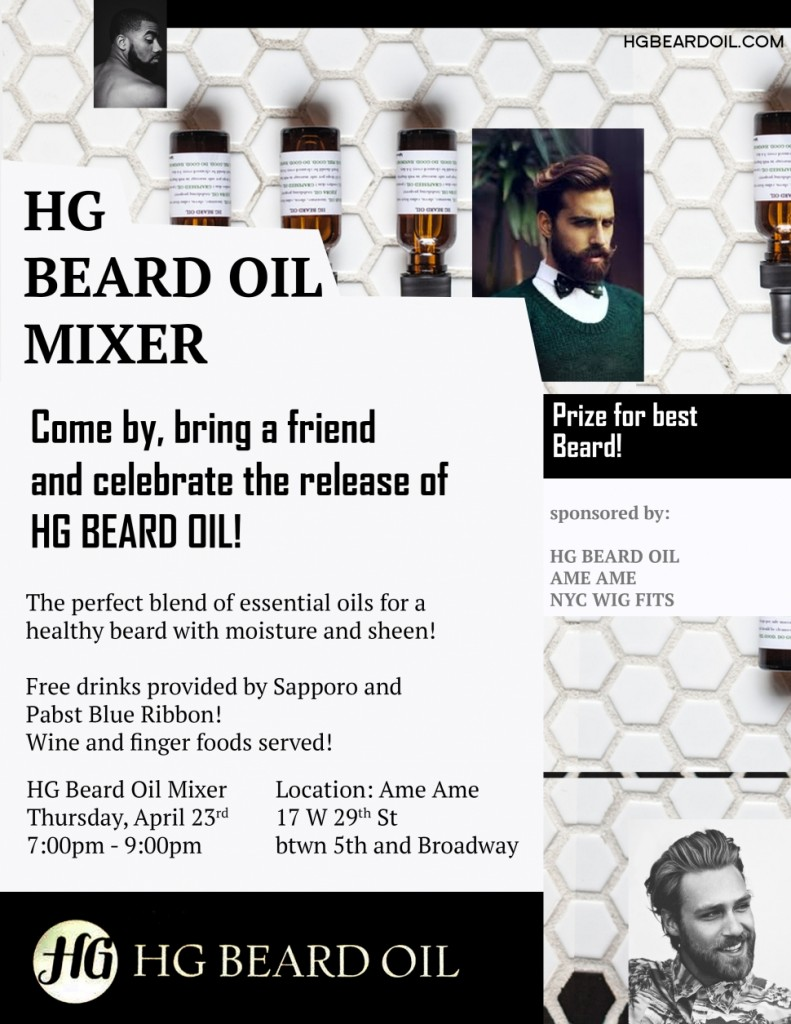 HG Beard Oil at Ame Ame Flier