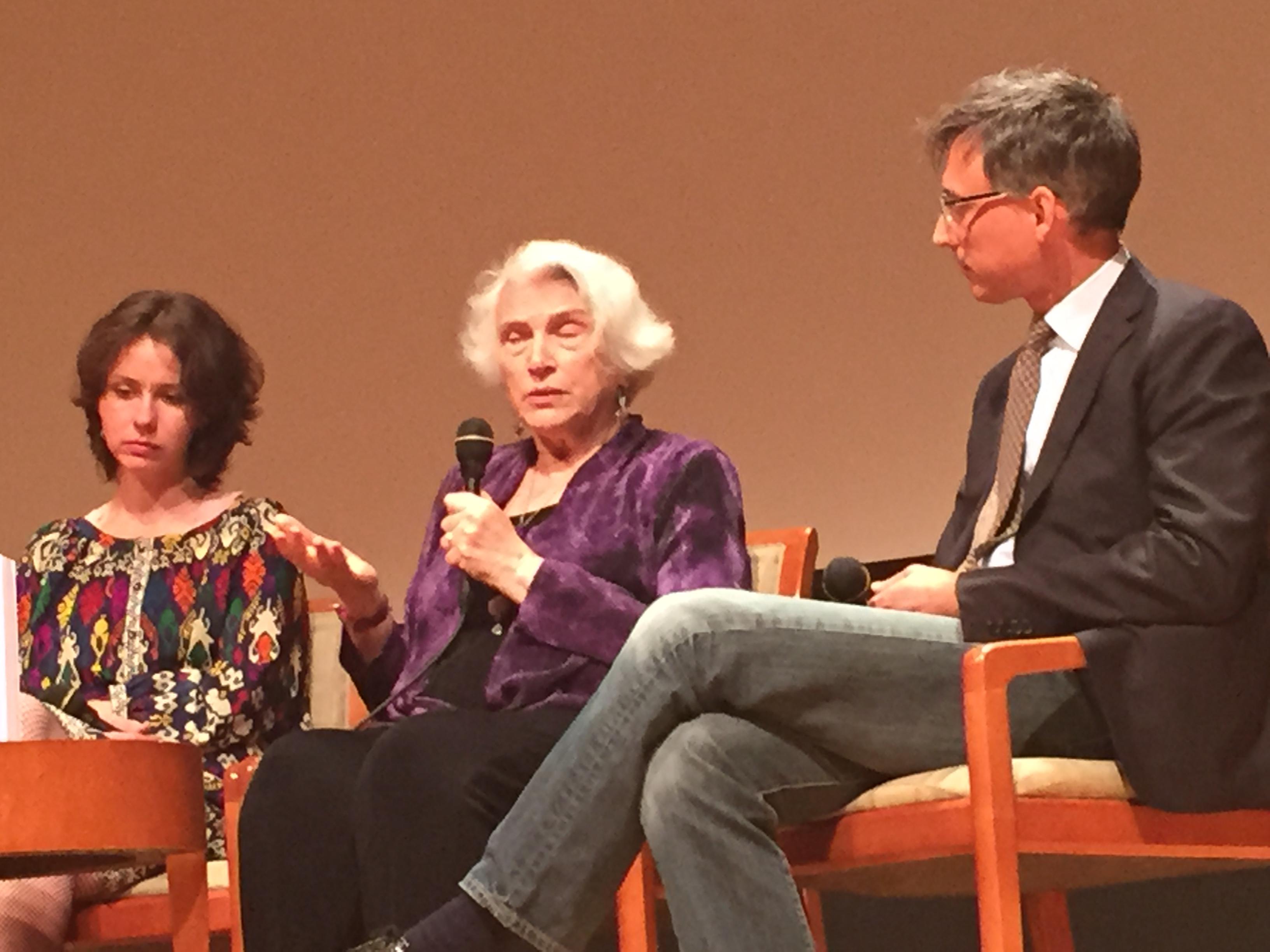 Lachka, Saidel and Ort discuss Haviva Reick in Post Film Panel DIscussion .