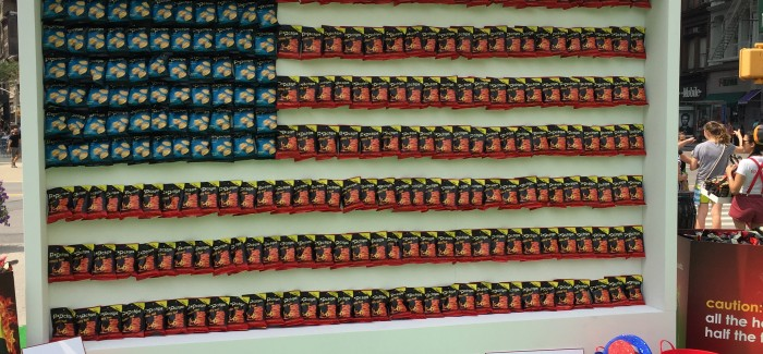 The American Flag Made of Potato Chips – in the Flatiron Plazas