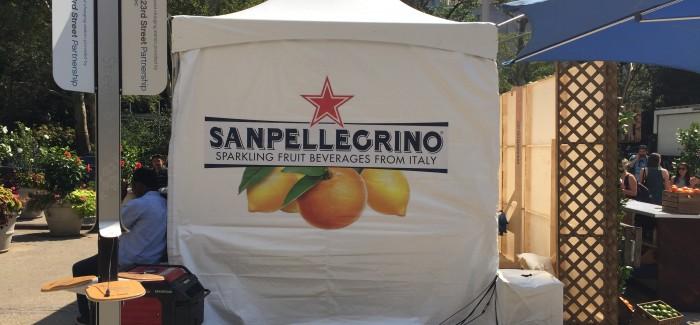 "Sanpellegrino's ""Pop-Up"" Orchard in Flatiron Public Plazas – Free Fruit Drinks & Bocci Tuesday & Wednesday!"