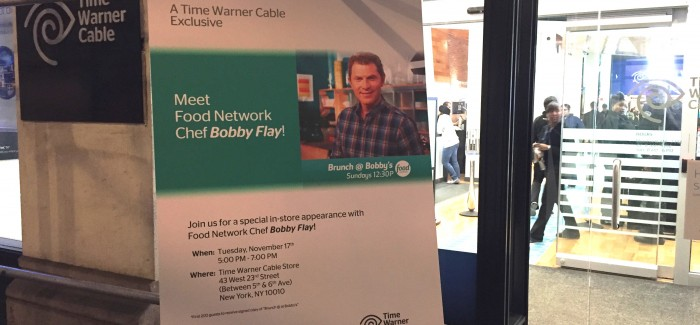 Bobby Flay Does Meet & Greet at Flatiron Time Warner Cable Location