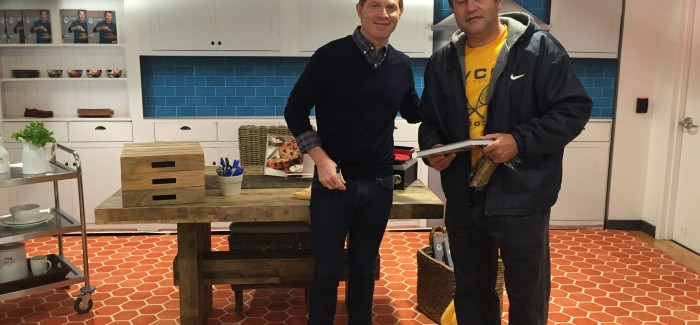 Bobby flay does meet greet at flatiron time warner cable location bobby m4hsunfo