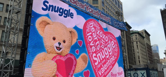 Snuggle Bear Pays a Visit to the Flatiron Public Plazas!