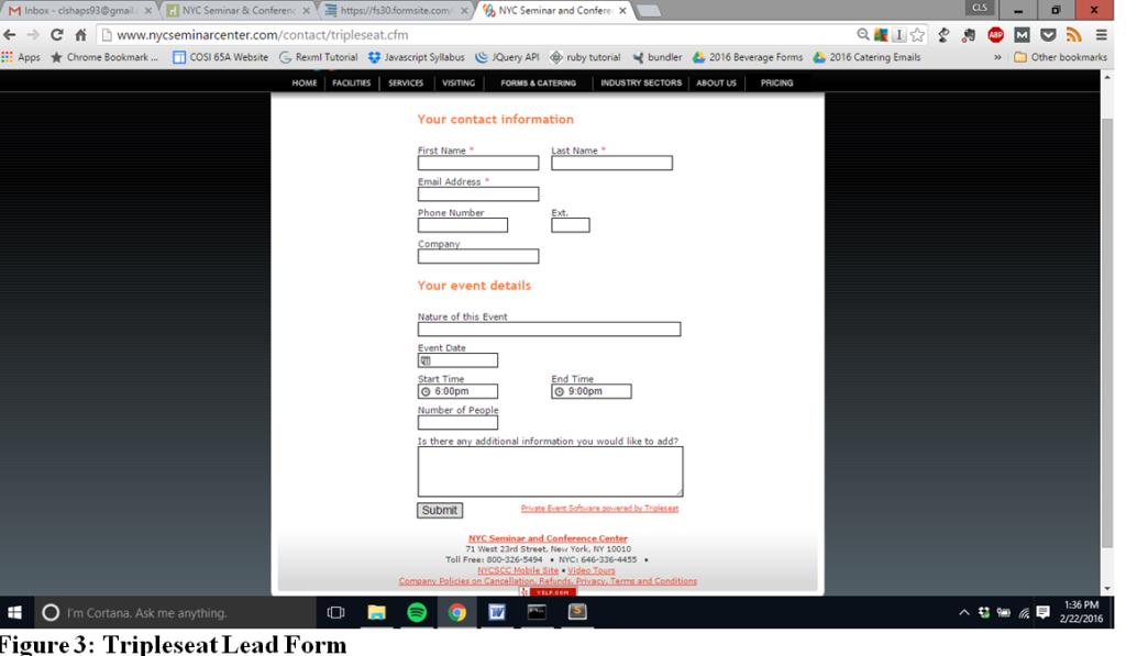 Tripleseat Standard Lead Form