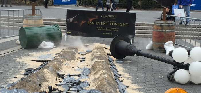 Watch Out for the Dragon!  Game of Thrones Touches Down in Union Square Park on Tuesday