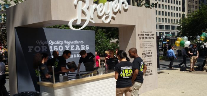 Free Ice Cream Wednesday in Mad Square Park: Happy 150th Birthday to Breyer's Ice Cream!