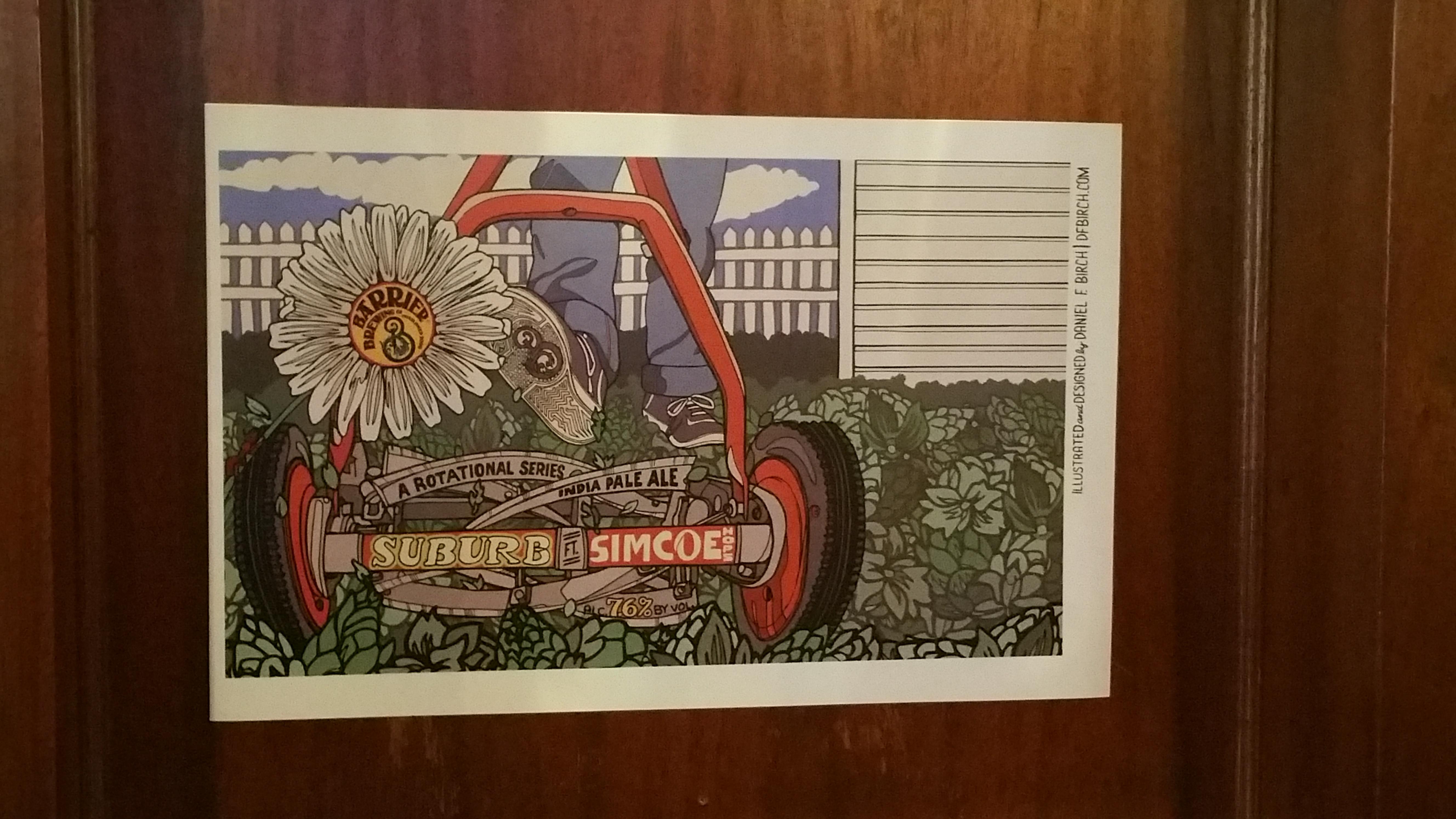 """Original Label art for """"Suburb""""!"""