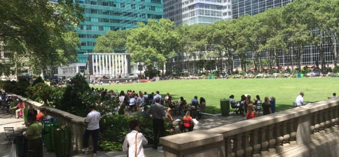 Another Fun Summer Day in Bryant Park!