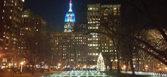 Enjoy NYC, Flatiron, and Madison Square Park this Holiday Season. Happy Holidays from Flatiron Hot! News and NYCSCC!
