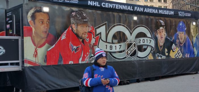 NHL Celebrates 100 Years in Mad Square Park:  Stanley Cup, Famous Jerseys, Hockey History on Display!